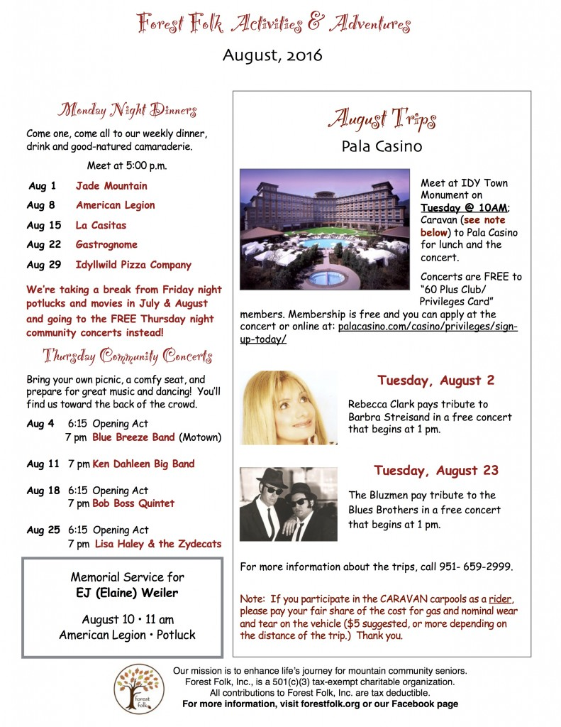 FF Rec Events August 2016
